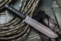 "Нож фирмы Kizlyar Supreme "" Survivalist"" Z D2 Gray Titanium Serrated"