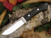 "Нож фирмы Bark River ""Drop Point Hunter Black Canvas Micarta"""