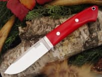 "Нож фирмы Bark River ""Classic Drop Point Hunter Red Linen Micarta"""